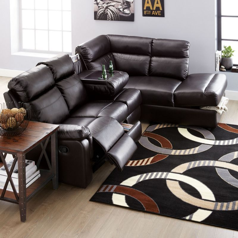 'Park Place' 2Piece Reclining Chaise Sectional Sears