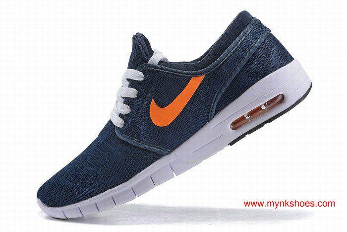 sports shoes 725a3 7ab66 Nike SB Stefan Janoski Max Womens Dark-blue Orange Skateboarding Shoes
