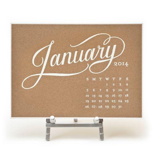 Genial Kate Desk Calendar Made Of Kraft Paper By Sugar Paper Los Angeles