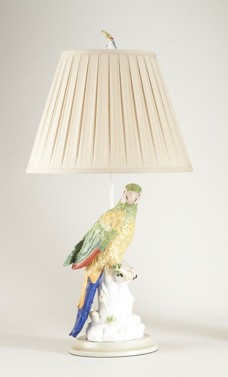 Meissen Macaw Porcelain Table Lamp Left By Chelsea House 33 Chelsea House Lamp Bird Cage Decor