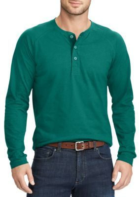 5744f4a0 Chaps Men's Cotton Henley Shirt - National Forest - 2Xl | Products ...