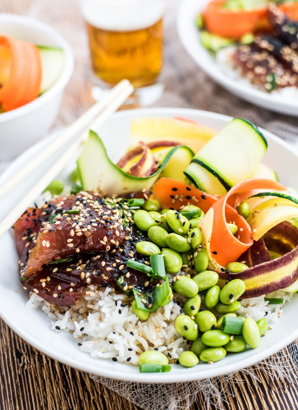 Ahi Poke Bowls With Sesame Ginger Vinaigrette Recipe With