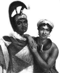A painting of a very young Kamehameha III (born