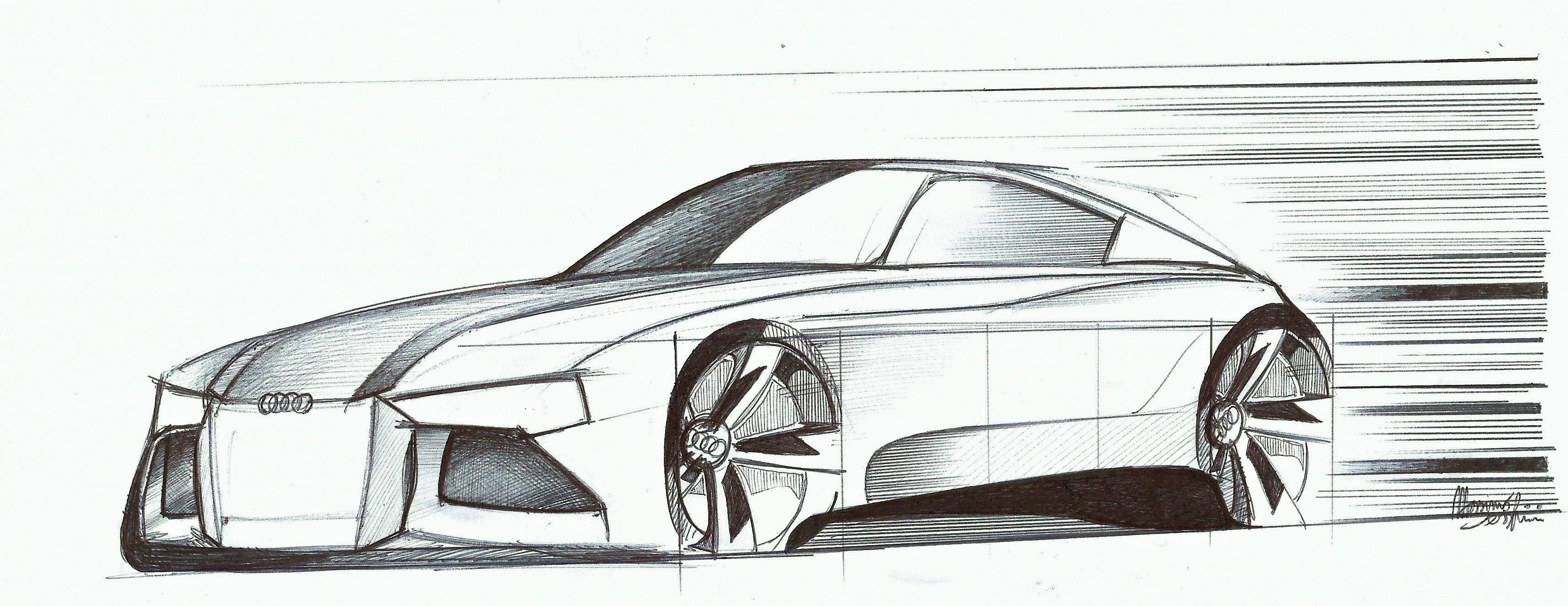 Audi Concept Car Design Pen Sketch Car Sketch Audi May 2015