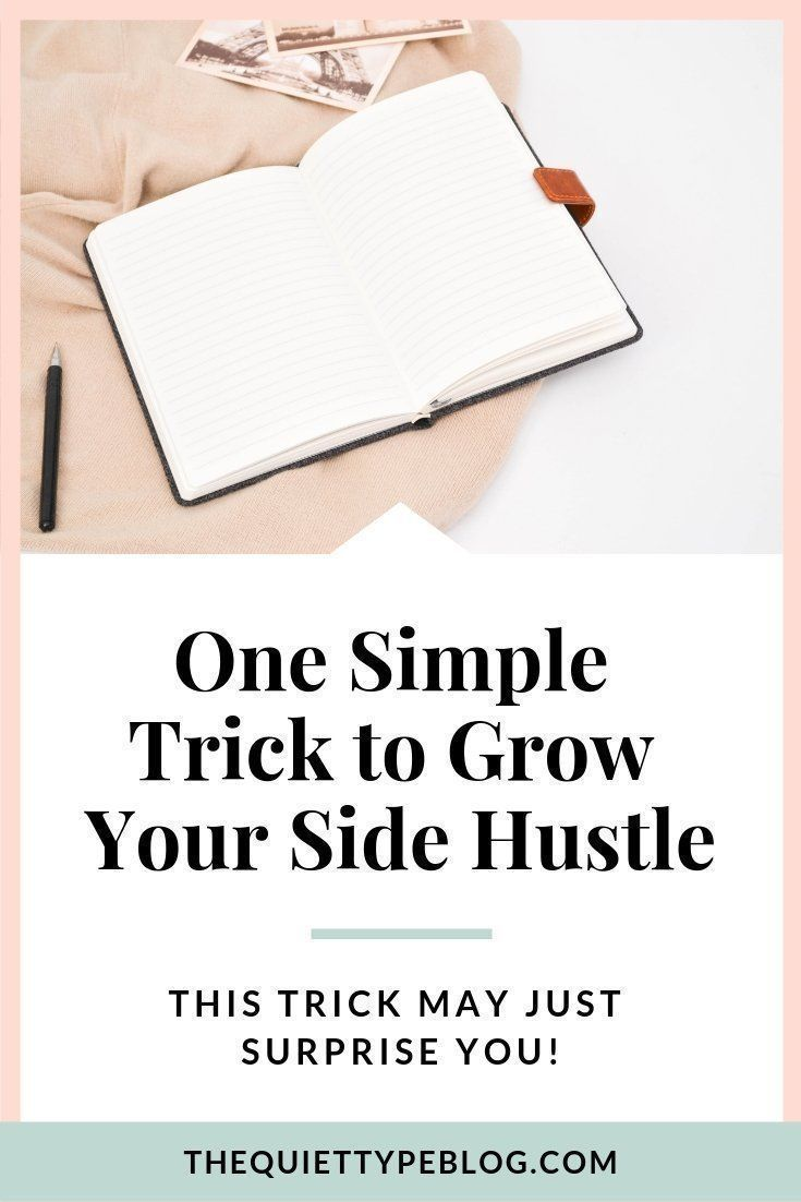 Turn your side hustle into a successful money-making machine with this one simple trick! #workfromhome #freelance #creativeentrepreneur #journal