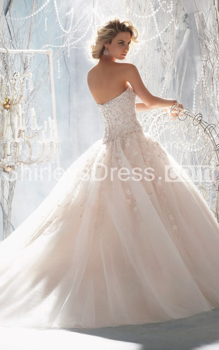 Royal beaded and embroidered layered tulle wedding ball gown w day