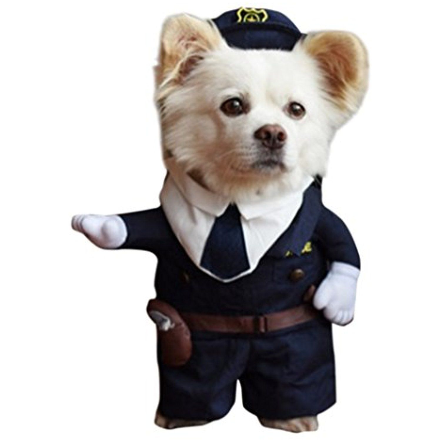 Judybridal Pet Puppy Cloth Cute Police Cop Uniform With Hat