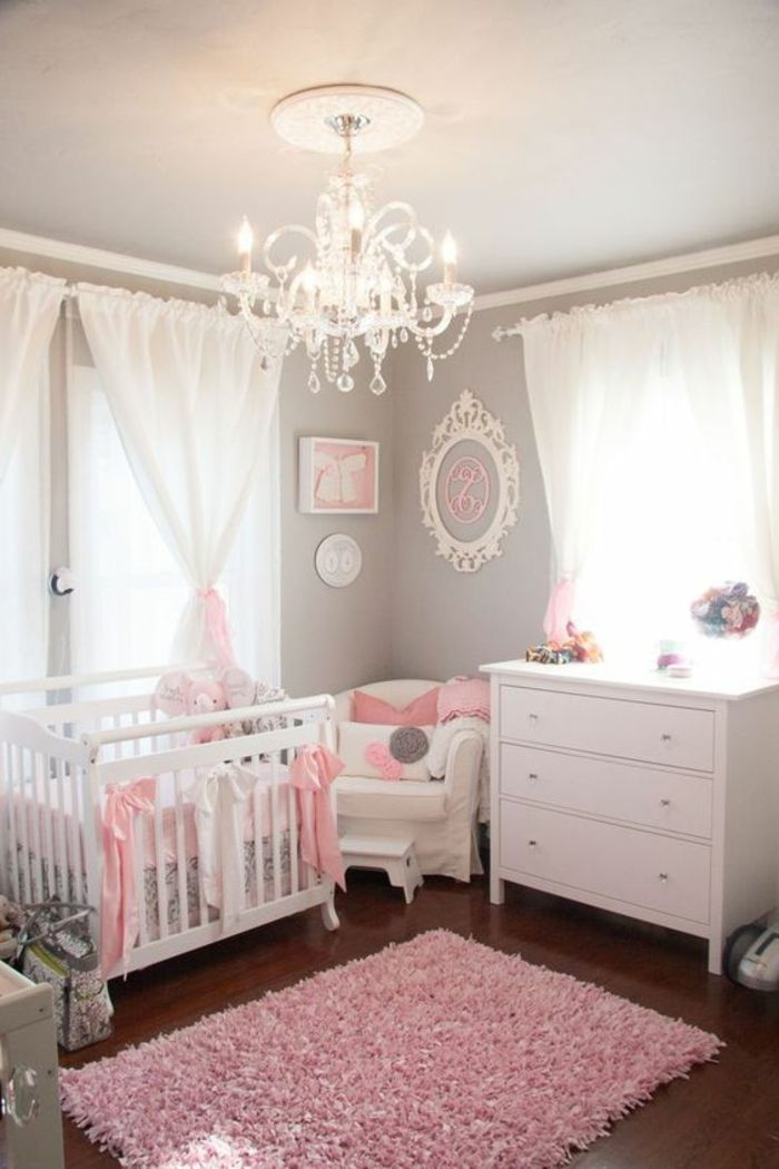 kinderzimmer einrichten ideen für baby mädchen rosa teppich im - babyzimmer einrichten ideen mdchen