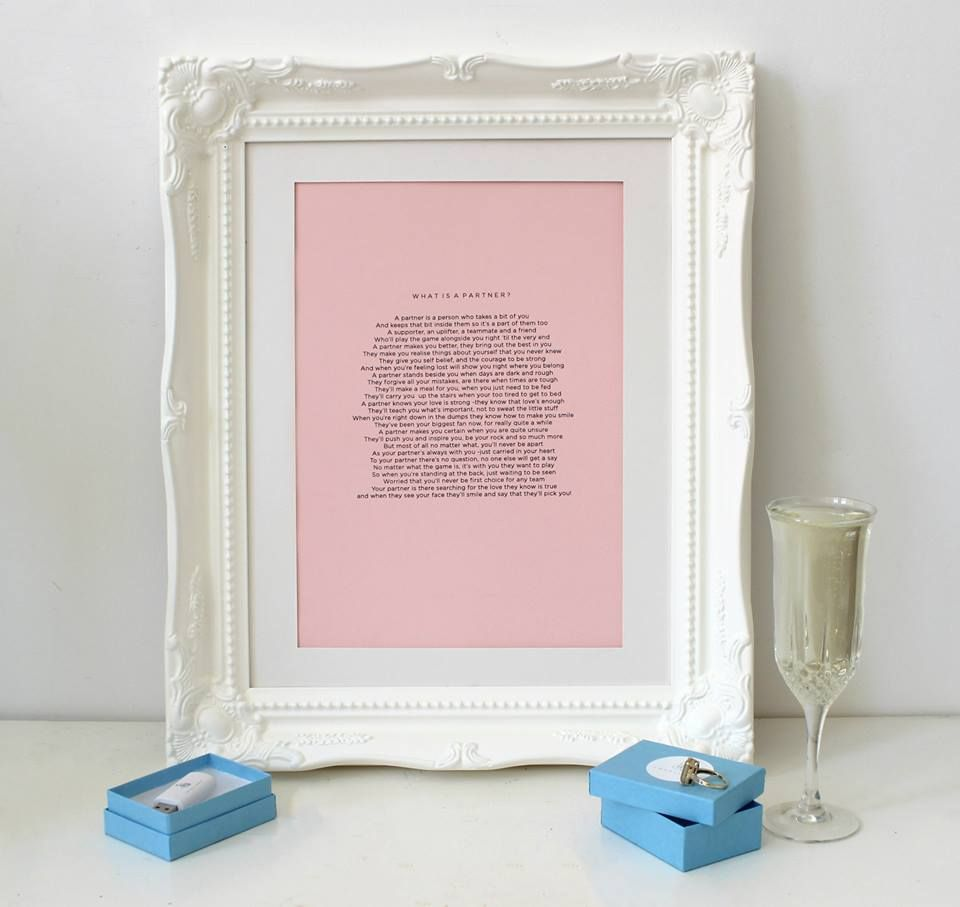 What is a Partner? a bespoke wedding poem Love Line by poet Beth ...