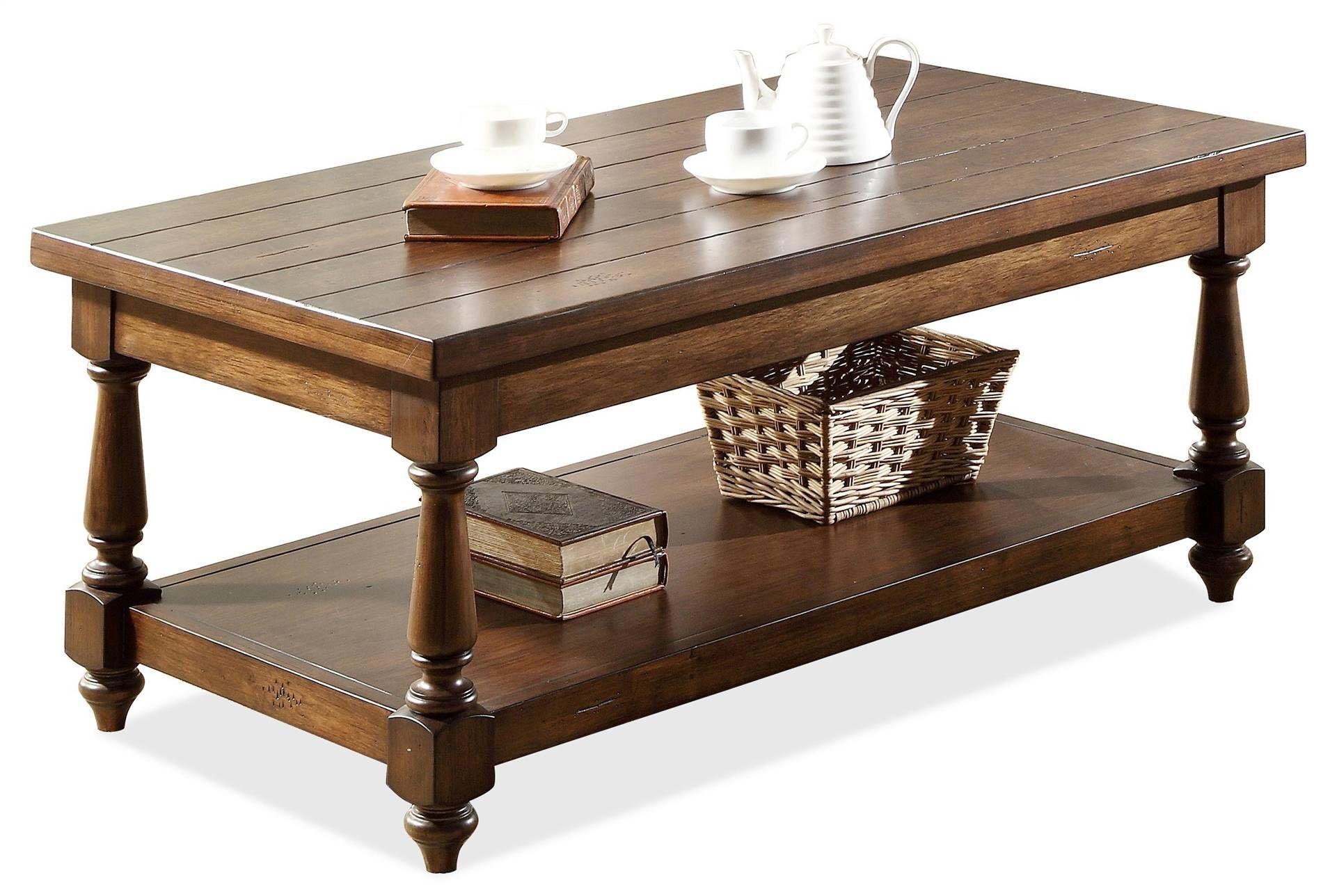 Arlo Rectangular Cocktail Table Coffee Table Riverside Furniture Living Table [ 1288 x 1911 Pixel ]
