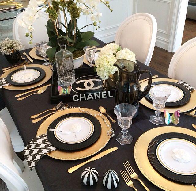 Tablescape Black Dinner Tables Dinner Table Decor Dining Table