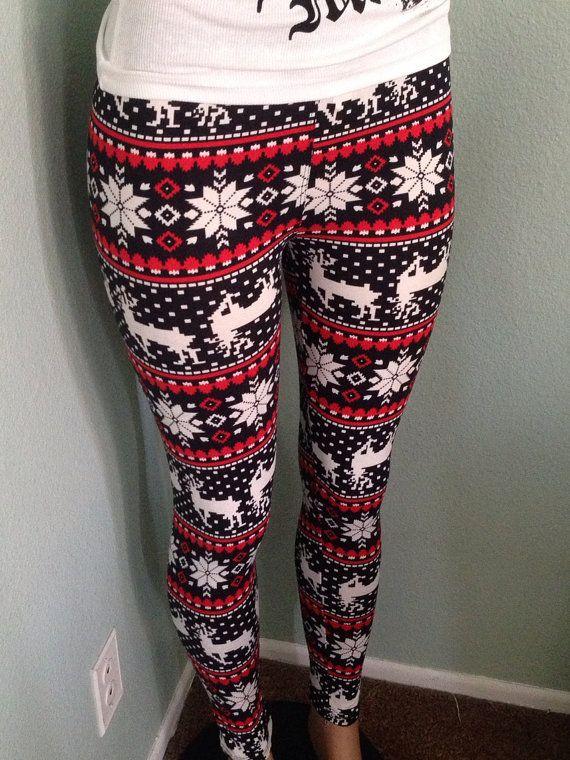 1a16b467d3b244 Holiday Leggings - Tacky Xmas Party Worthy. | Christmas | Holiday ...