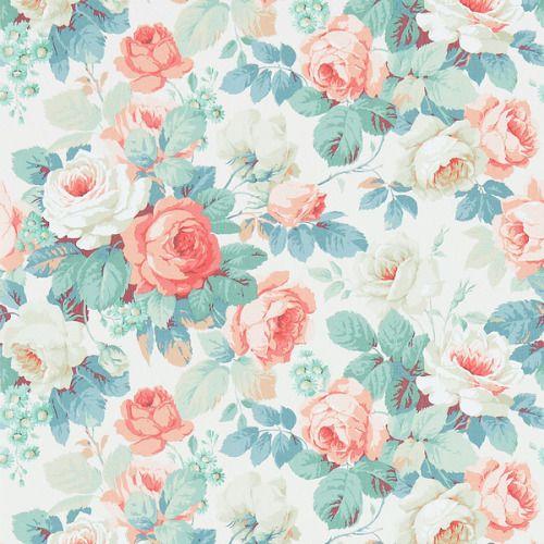 Parisian Vintage Wallpaper Floral