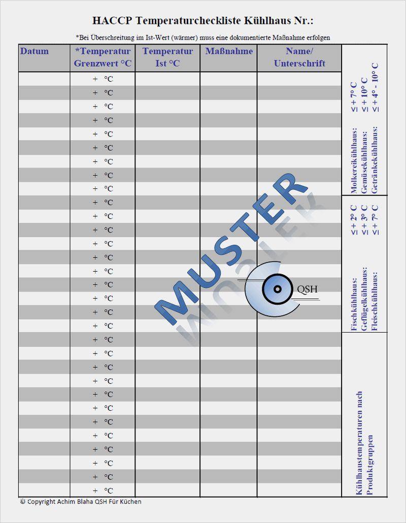 Haccp Checklisten Als Pdf Word Zum Download 14