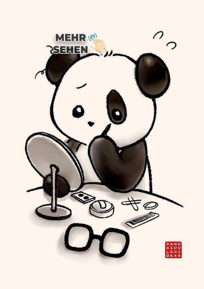 pin von severine wolter auf malen  panda kunst
