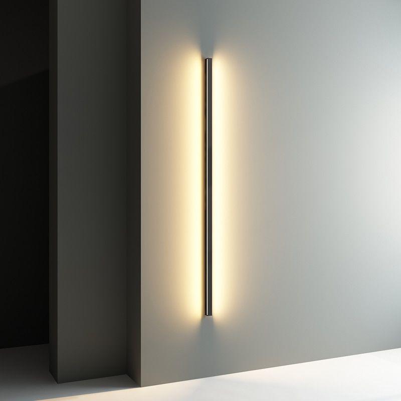 Nordic Minimalist Long Wall Lamp Modern Led Wall Light Indoor Living Room Bedroom Led Bedside Lamp Home Decor Lighting F Wall Lights Wall Lamp Led Wall Lights