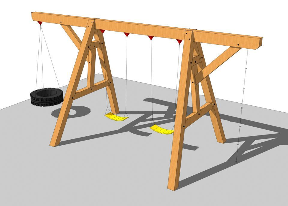 35+ Swing Set Plans Ideas | Swings, Playhouse ideas and Playhouses
