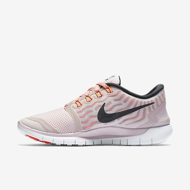 Nike Free 5.0 Women's Running Shoe Violet Ash/White/Hyper Orange/Black