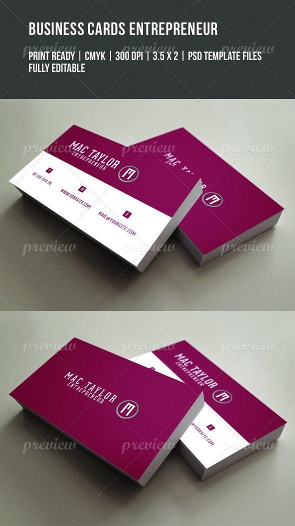 Entrepreneur Business Card Entrepreneur Business Cards Business