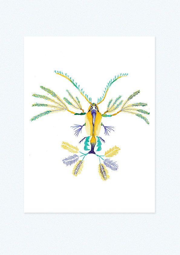 Copépode à plumes par JulieJup sur Etsy