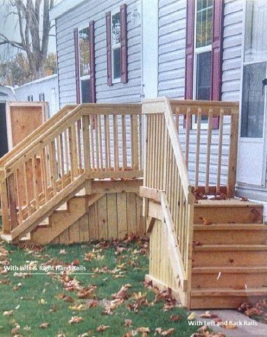 Amish Built Wood Steps, Mobile Home Outdoor Steps