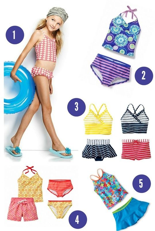 94757f4193fd6 We've got tons of mix and match bikinis and tankinis for girls that are mom- approved, and let our little girls stay little girls a little while longer  ...