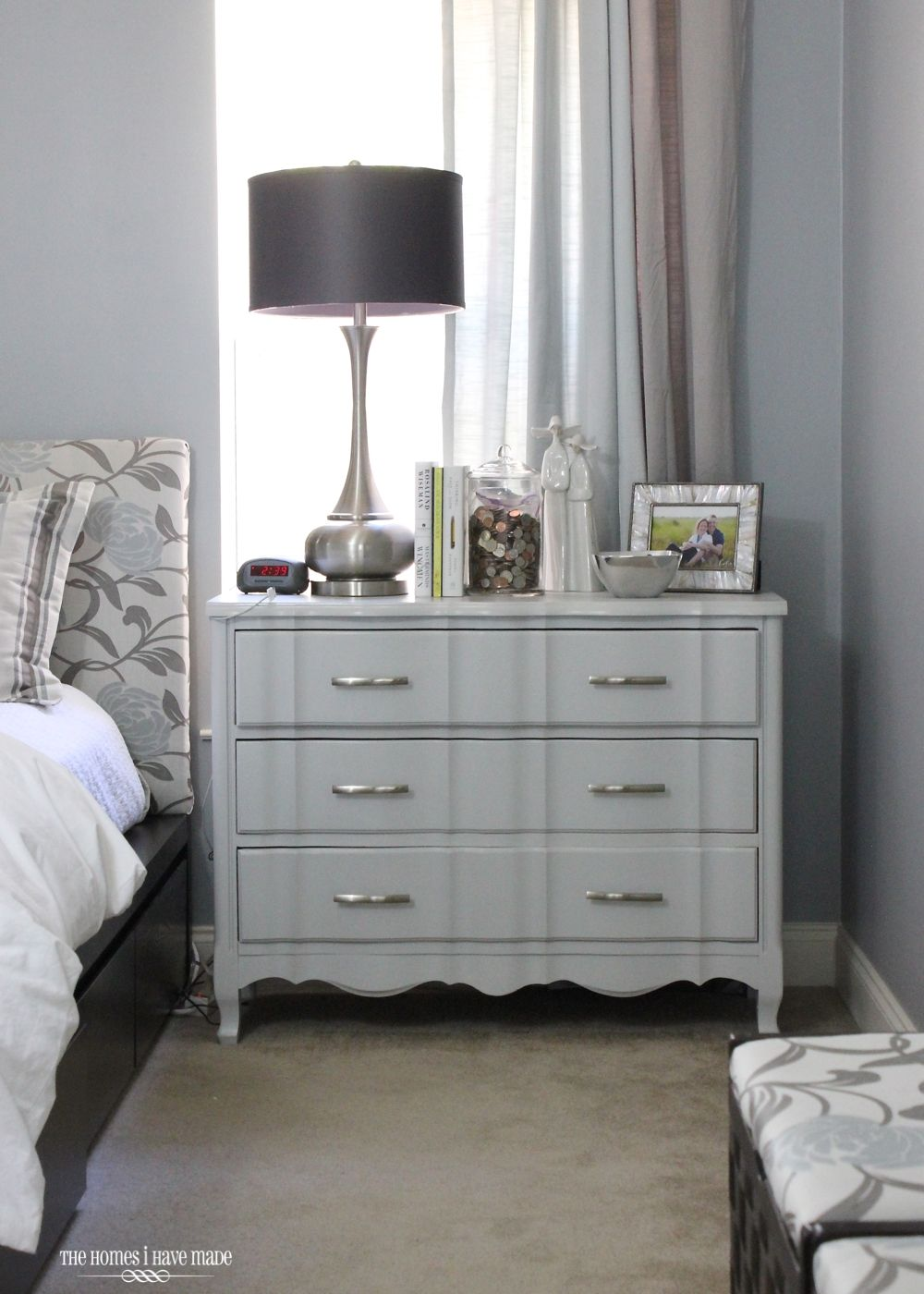 Modern and Glam Master Bedroom Reveal Apartment bedroom