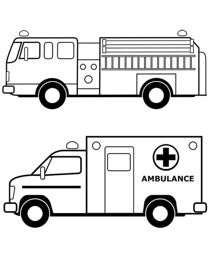 Big Kid Ambulance Coloring Pages | Monster truck coloring ...