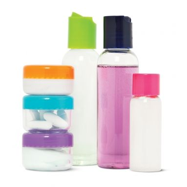 Travel Set With Refillable Bottles New For June Tiger Uk