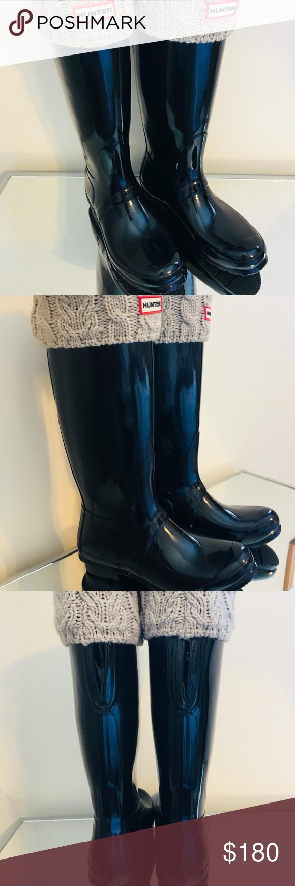 ccdead82c744 Hunter Boots w  Socks Very gently worn tall