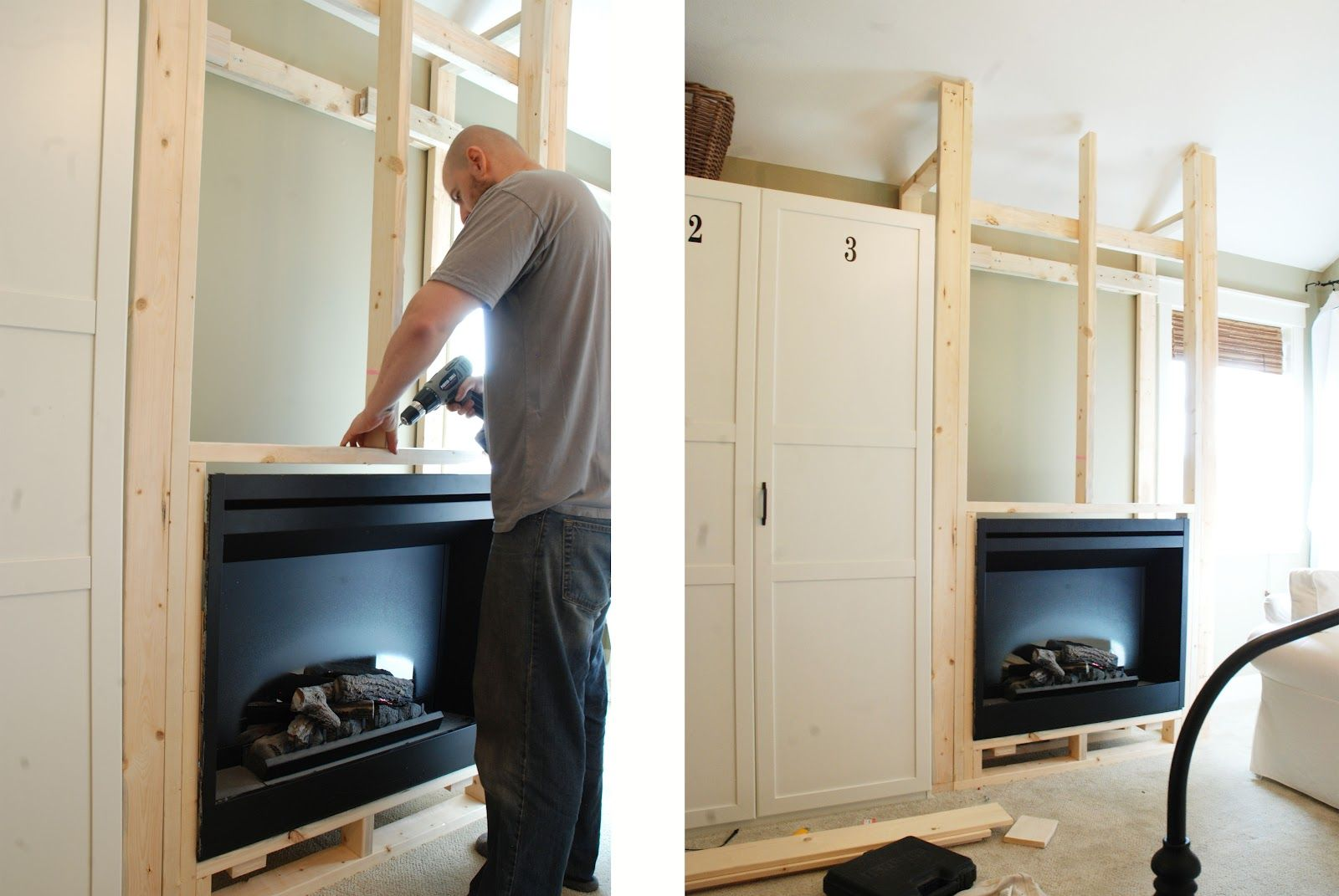 Fireplace How To build a frame to hold electric or gel insert ...