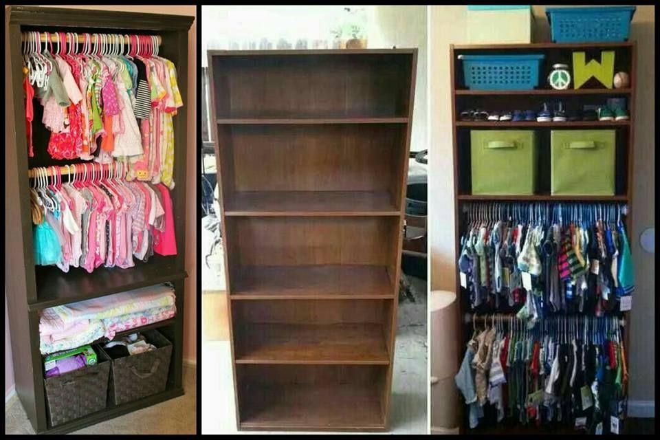 Bookshelf Baby Closet
