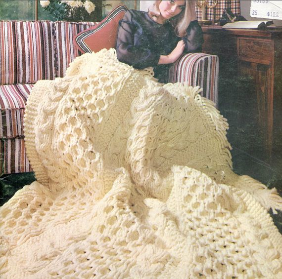 Winter Warm Knit Blanket Pattern by PearlShoreCat on Etsy