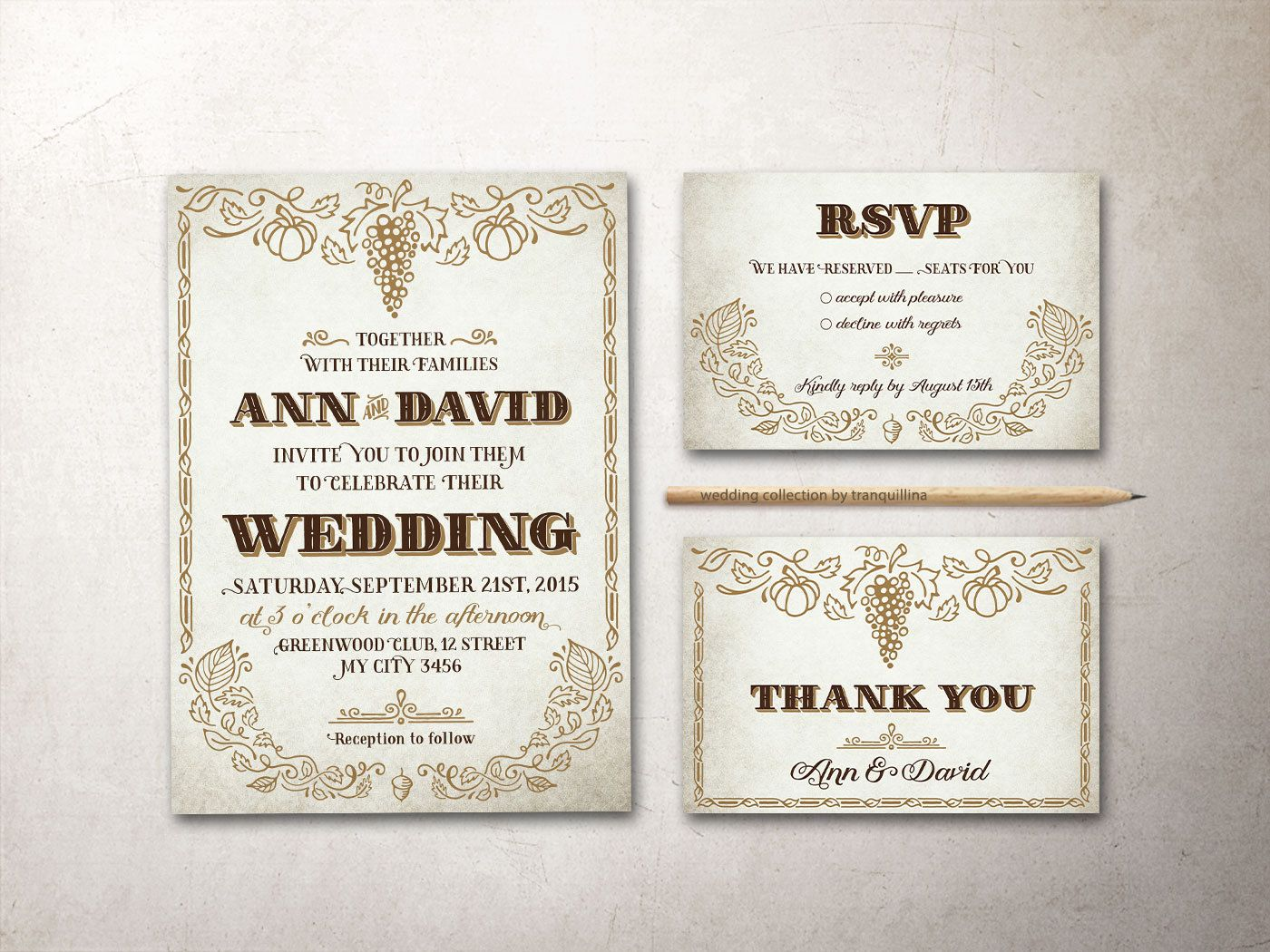 Rustic Wedding Invitation Purple Wedding Invitation Watercolor ...