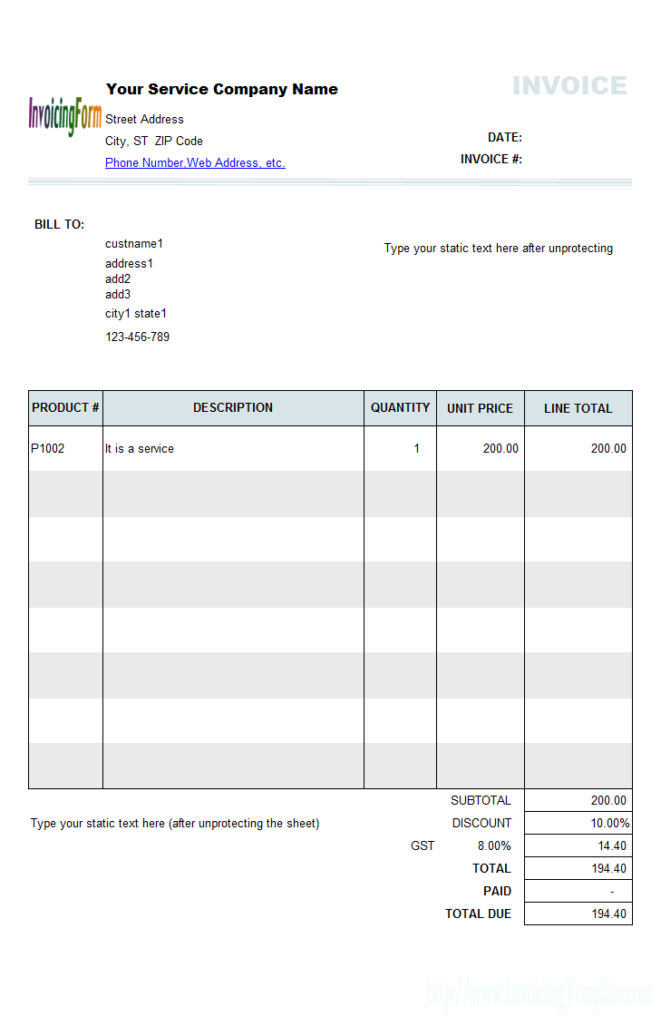 Excel Invoice Template Quebec Excel Templates Invoice Template