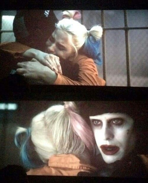 Harley Quinn and The Joker // Suicide Squad. My favorite scene