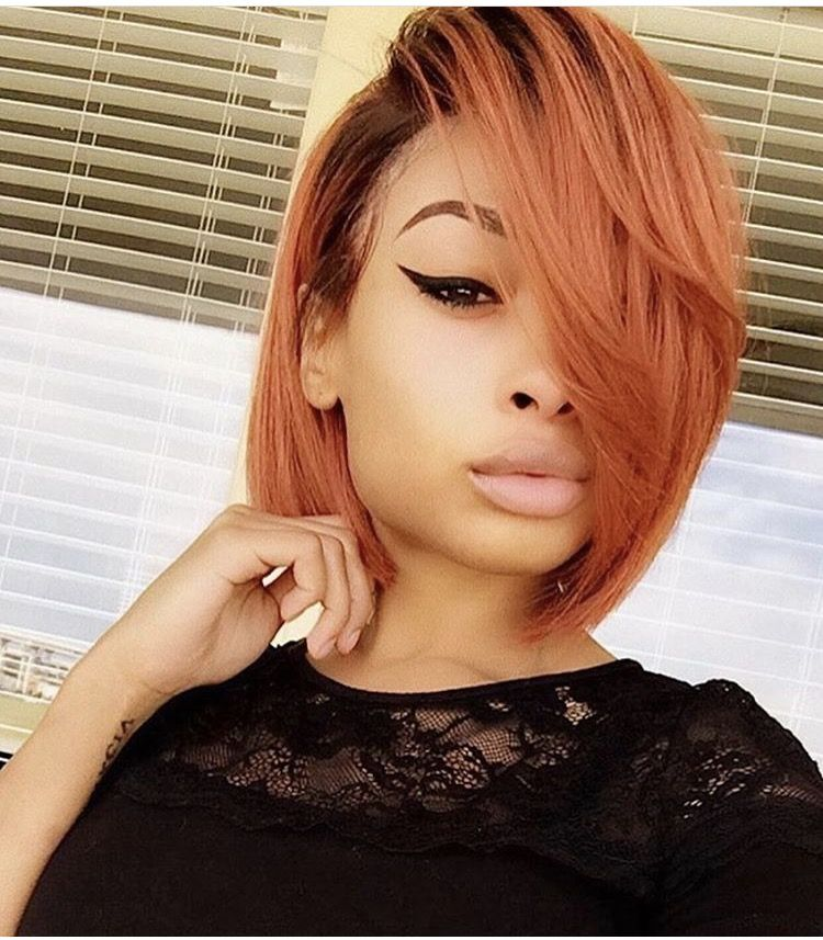 pinlisa bright on short hair don't care  relaxed hair
