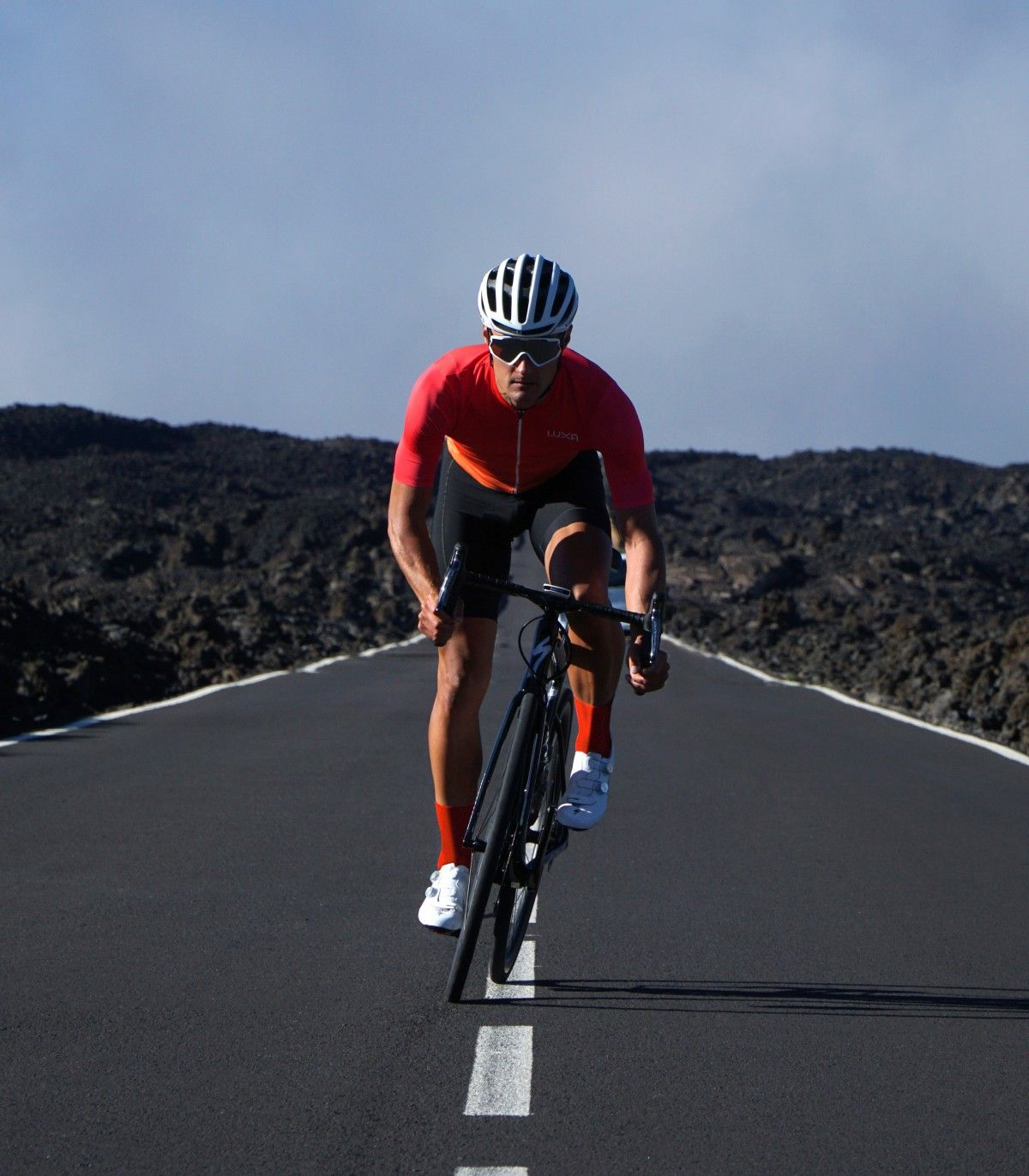 Sunset Ombre Red Cycling Jersey Men's Jersey made in