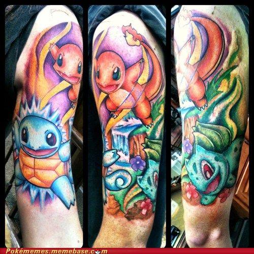 Best Pokemon Tattoo Ever Pokemon Tattoo Badass Tattoos Cool Tattoos