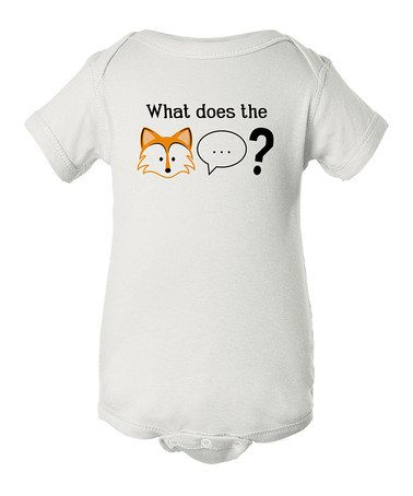 White 'What Does the Fox' Bodysuit - Infant by INKtastic #zulily #zulilyfinds