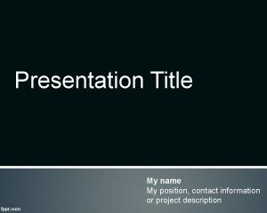 When we need to create powerpoint presentations the traditional free neat template for powerpoint presentations with dark background color and nice footer effect toneelgroepblik Gallery