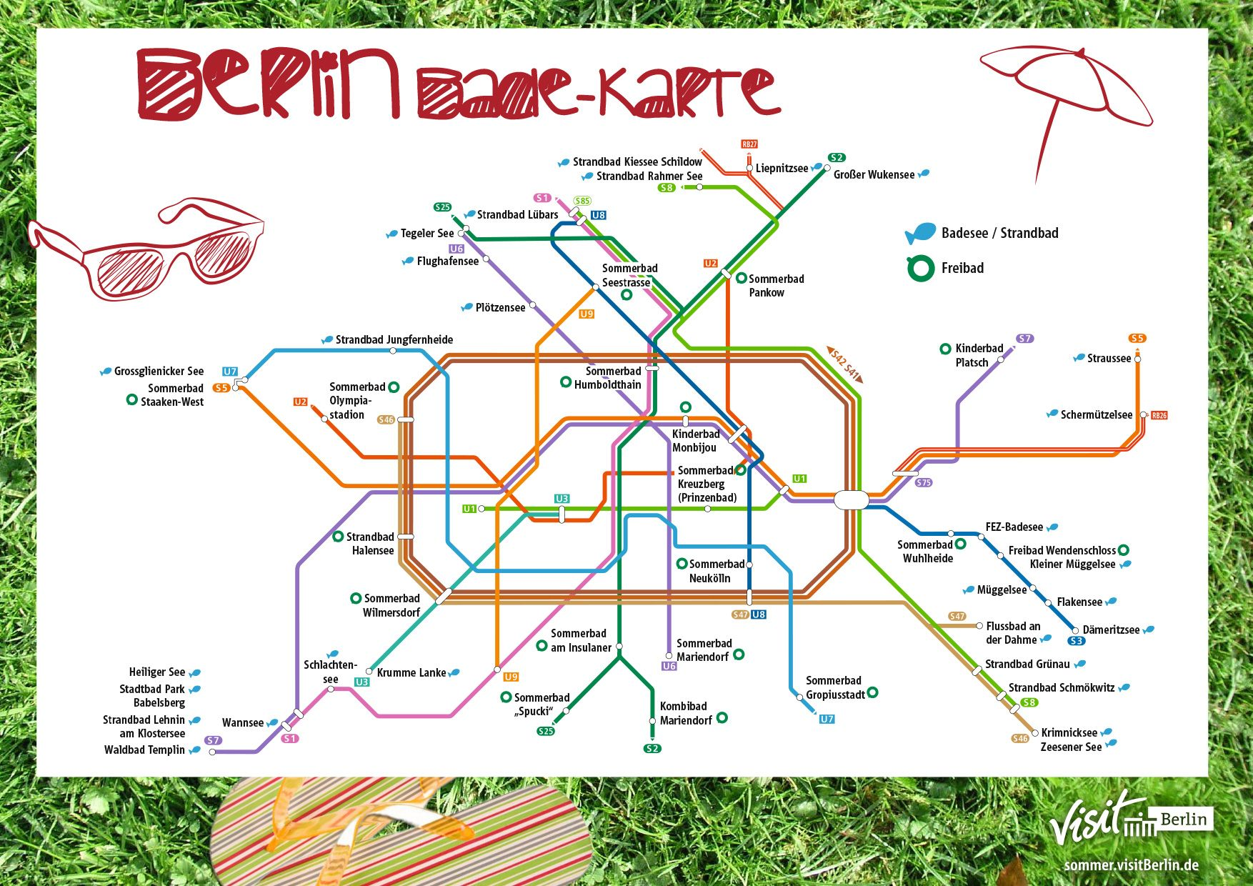 Such A Sweet Idea Map With Lake And River Sights Of Berlin Mit
