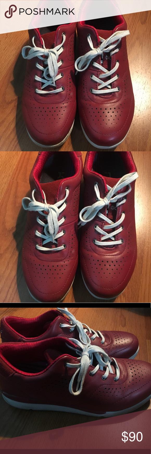 Kuru Lida Maroon Red Sneakers Plantar