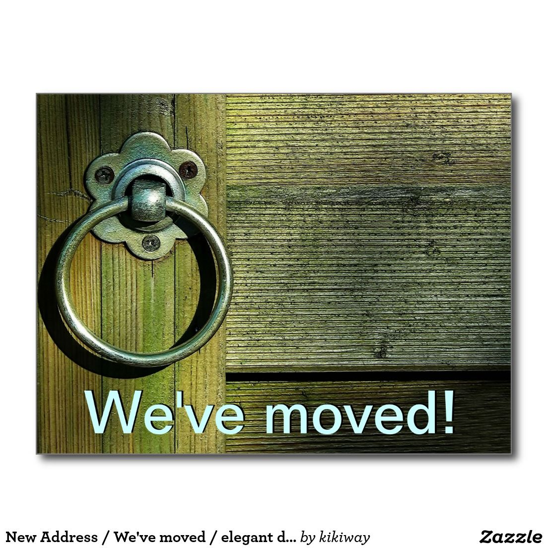 New Address / We've moved / elegant doorknob Postcard