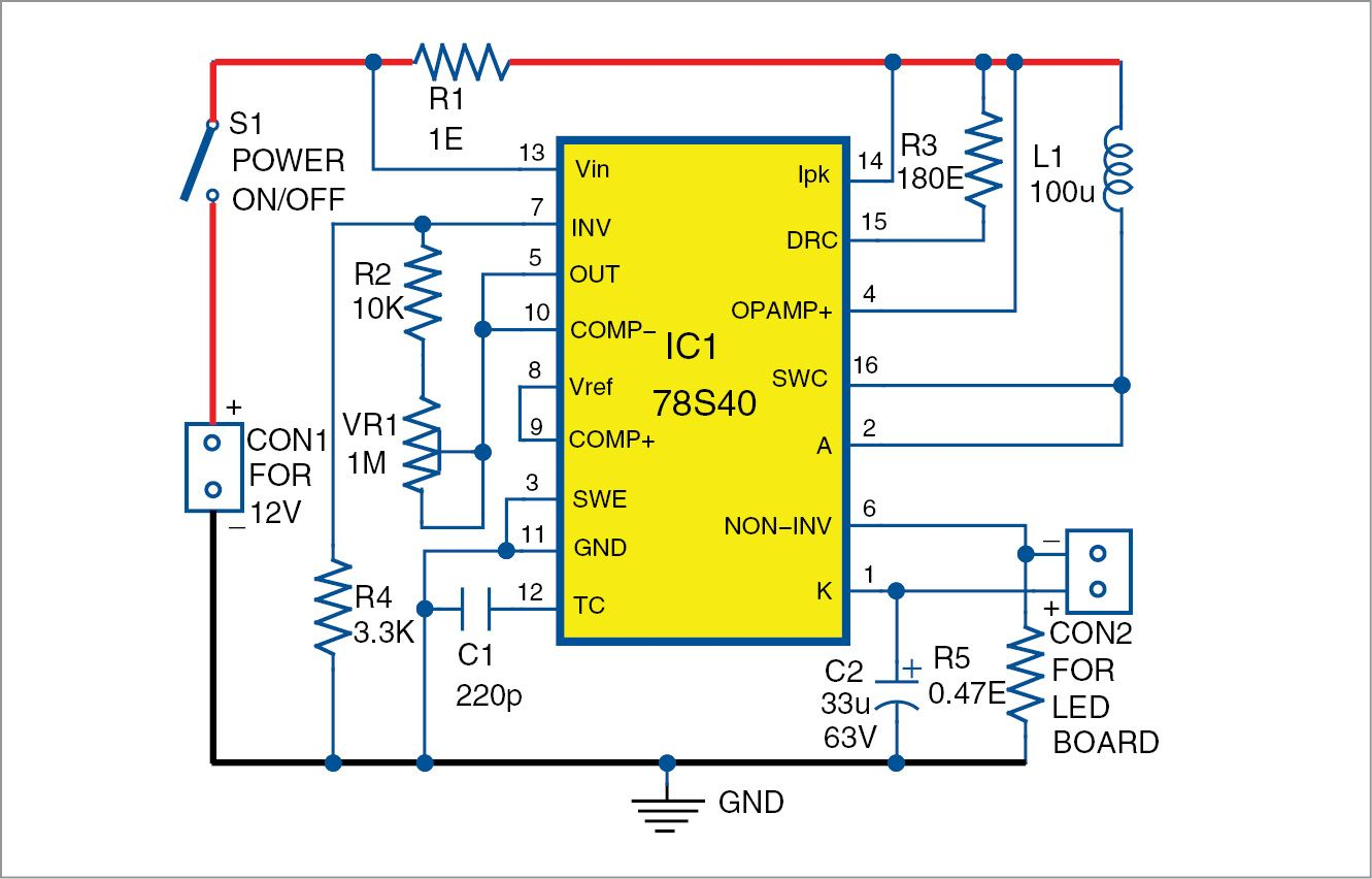 medium resolution of battery powered night lamp using an old led bulb circuit diagram dc circuit