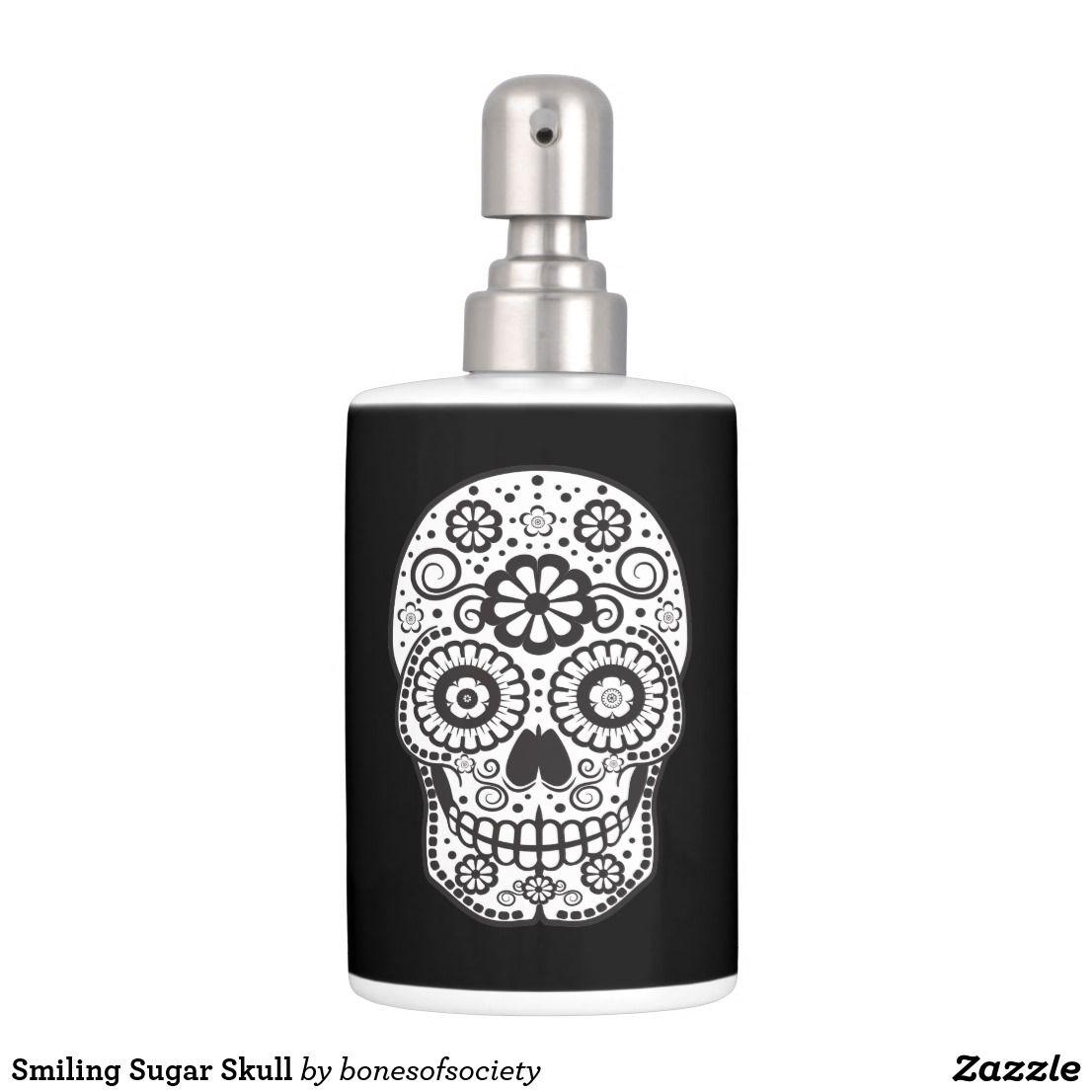 Smiling Sugar Skull Bathroom Set Zazzle Com Bathroom Sets Bath Accessories Set Sugar Skull