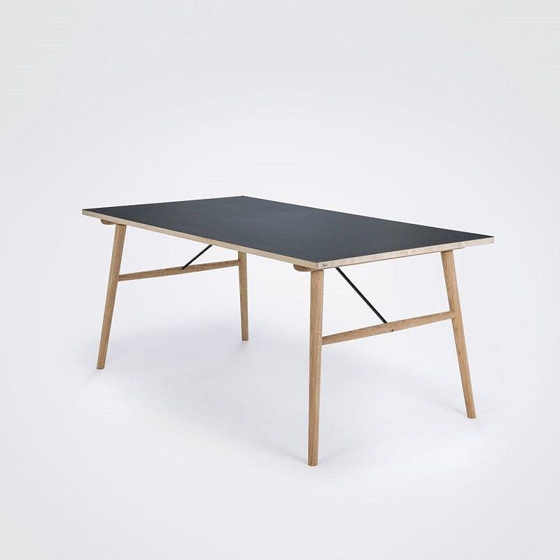 Houe Hekla Dining Table 208cm Black Linoleum Spisebord Linoleum