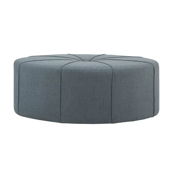 Telly Oval Tufted Cocktail Ottoman Oval Ottoman Cocktail