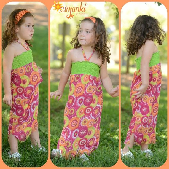 Little Girls in Halter Dresses