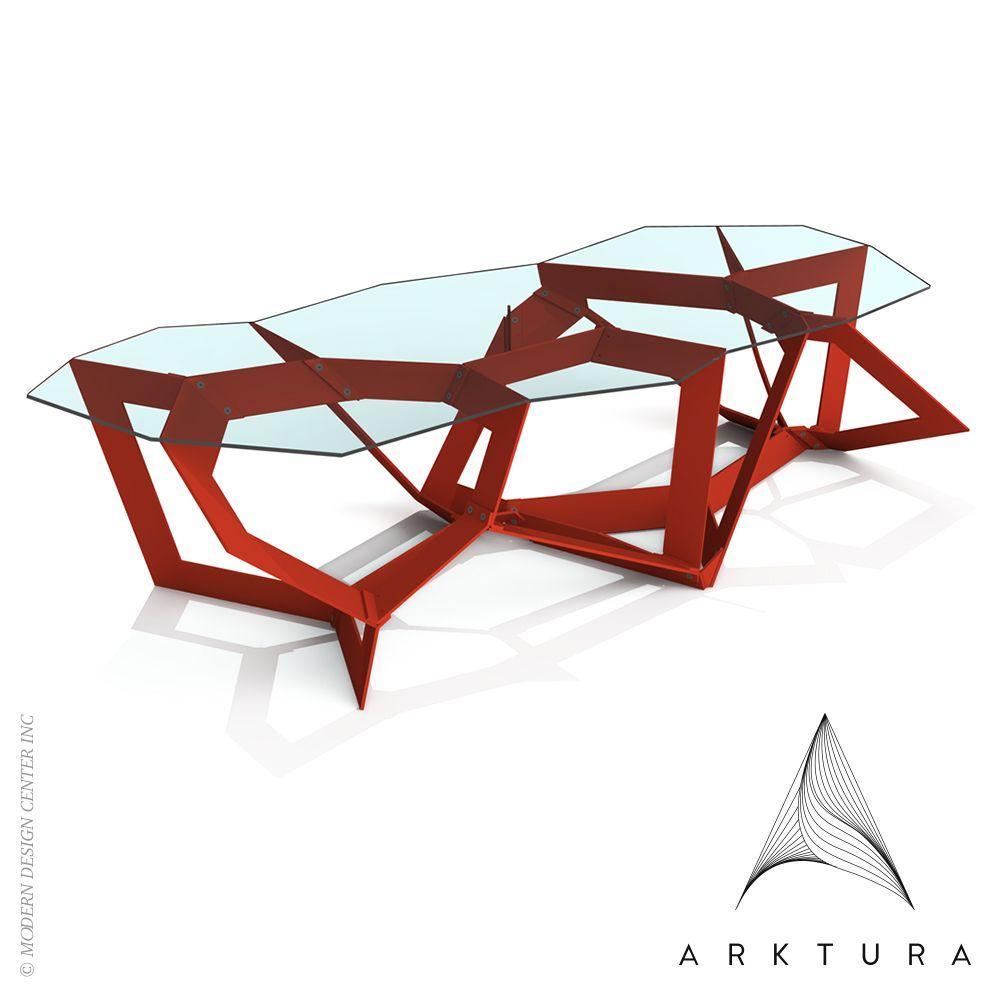 Geometrically designed and algorithmically generated, Quadra ... - Geometrically designed and algorithmically generated, Quadra Coffee Table. # arktura #coffeetable #chriskabatsi